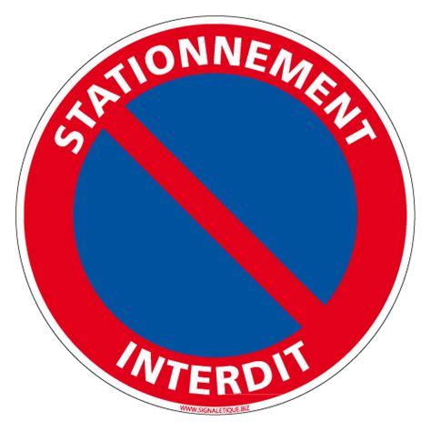 panneau interdit stationner panneau interdit de stationner panneau interdiction de panneau en