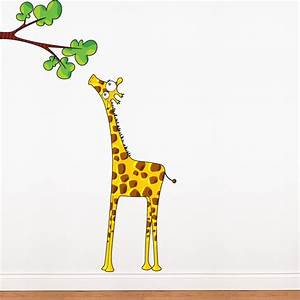 Giraffe wall decal 2017 grasscloth wallpaper for Giraffe wall decal