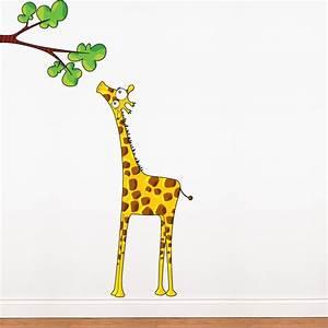 Giraffe wall decal 2017 grasscloth wallpaper for Giraffe wall decal