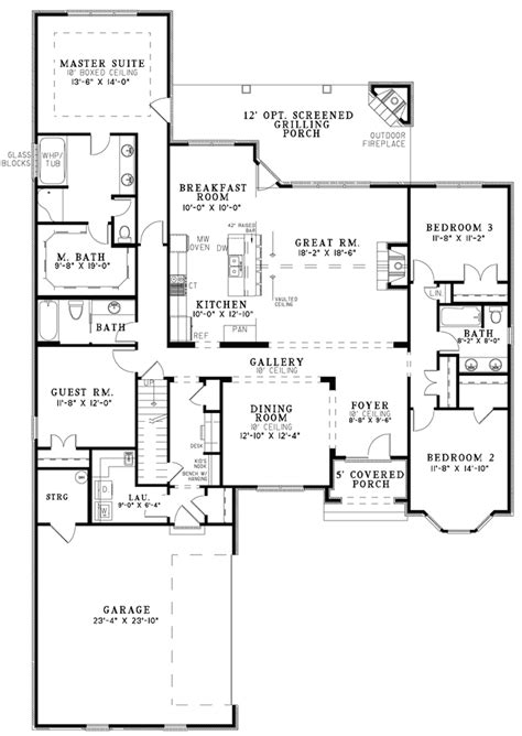 Top Photos Ideas For Open Floor House Plans One Story by Open Home Plans Smalltowndjs