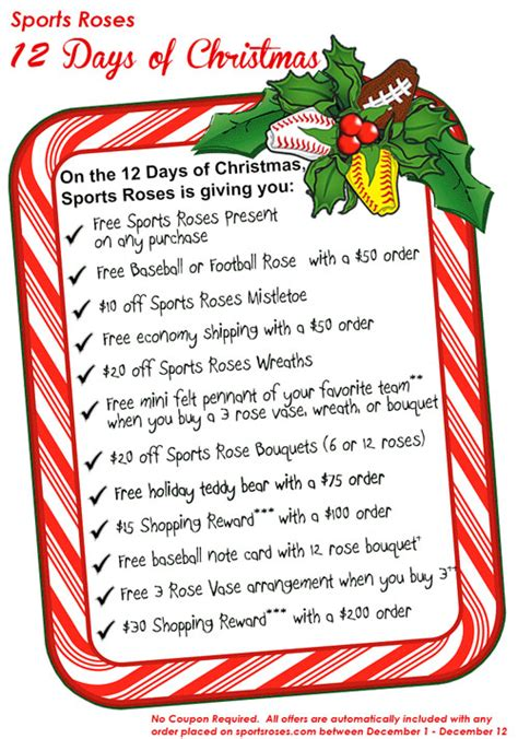 The Sports Roses 12 Days Of Christmas