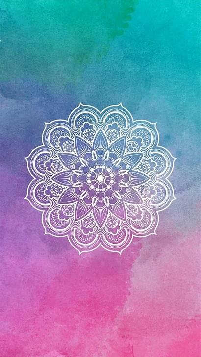 Backgrounds Mandala Lockscreen Mobile Colorido