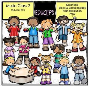 Music Class 2 Clip Art Bundle (Color and B&W) | Welcome to ...