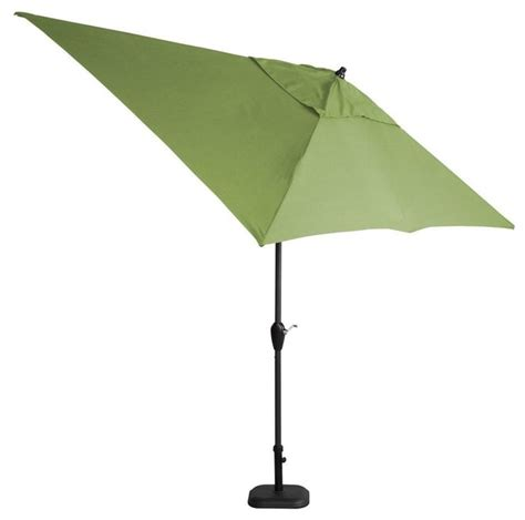 hton bay patio umbrellas 10 ft x 6 ft aluminum patio