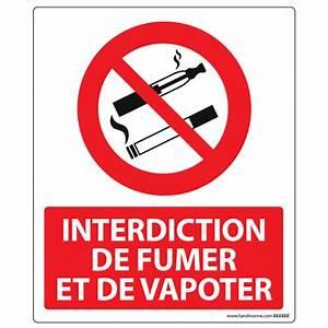 Cartons De Déménagement Gratuit : panneau interdiction de fumer et vapoter plaques et ~ Melissatoandfro.com Idées de Décoration