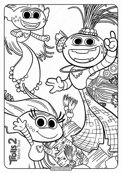 Coloring Trolls Pages Trollex King Printable Tour