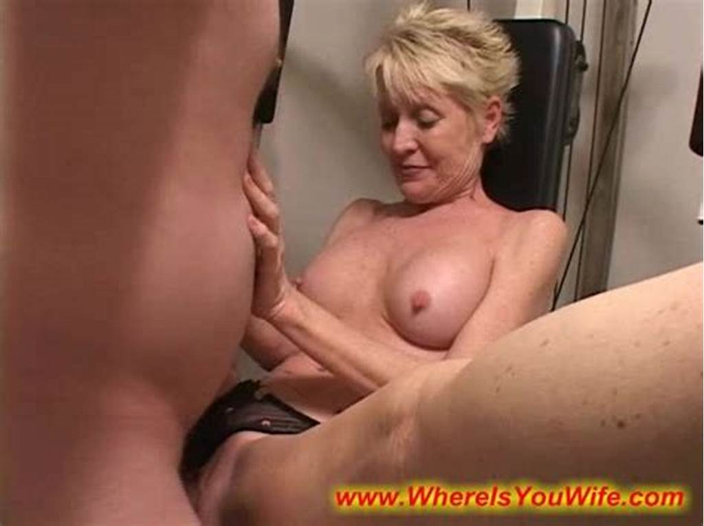 #Seductive #Blonde #Mature #Housewife #Enjoys #Fucking #With #A