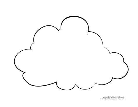 Cloud Template Coloring Page