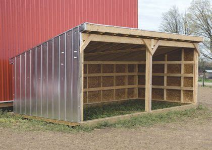 cattle shelter  instructions design  expand