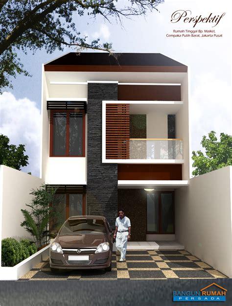 rumah minimalis  lantai lebar  meter desain rumah