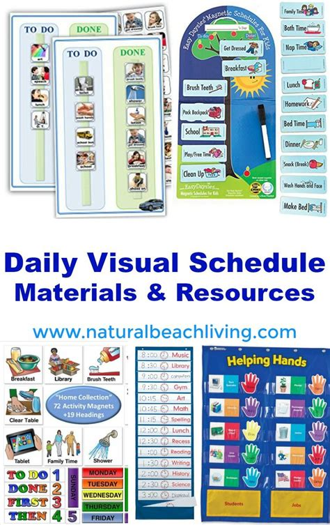 perfect daily visual schedule materials  resources
