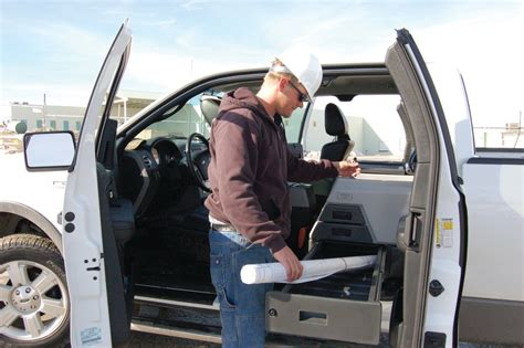 mobile desk for truck this pickup truck gear creates a truly mobile office