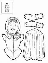 Puppet Coloring Sheet sketch template