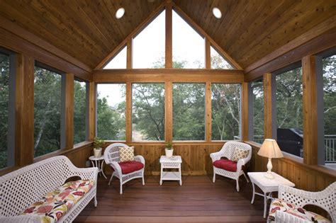 season screened porch rustic porch minneapolis