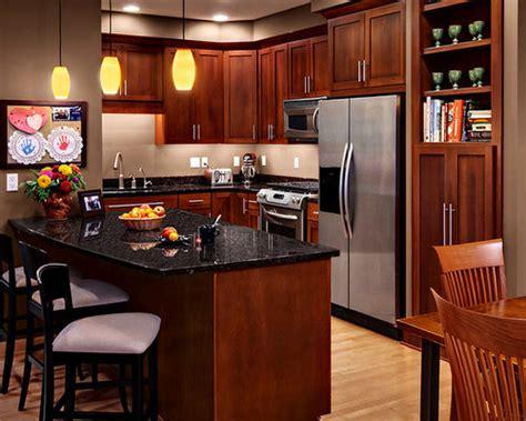 cherry cabinets black granite design ideas remodel pictures houzz