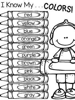 color word activities  boy  girl color word