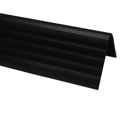 Tile Stair Nosing Home Depot by Shur Trim Vinyl Stair Nosing Black 1 7 8 Inch The