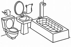 Modern and clean bathroom coloring page coloring pages for Wiringbathroom2