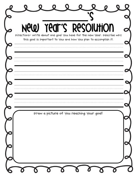 new year s resolution worksheet 2nd grade holiday worksheets best coloring pages for kids
