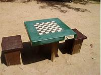 outdoor chess table Chess | Free Stock Photo | An outdoor chess table | # 7540