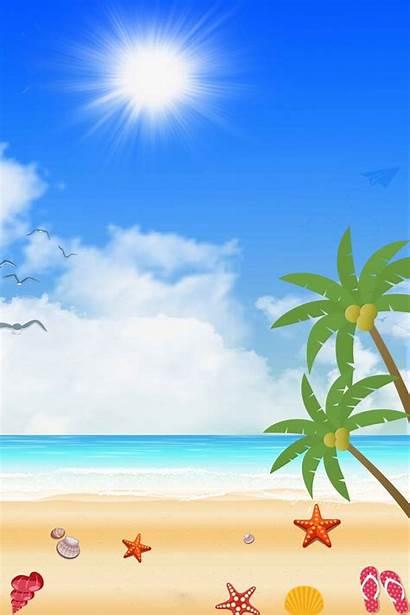 Cartoon Poster Pngtree Verano Playa Resolution Animados