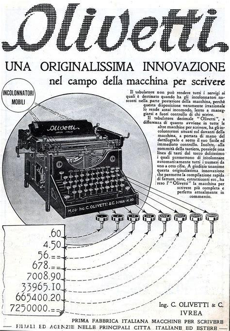 Scrivanie Vecchie by Olivetti Una Originalissima Innovazione Ad 1923 Vintage