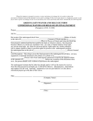 Bill Of Sale Form Conditional Waiver Of Lien Forms Conditional Release Forms