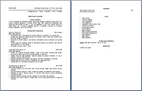 Sales Associate Resume Exles by Cosmetic Sales Associate Resume
