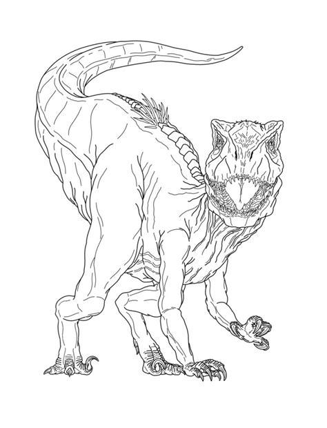 indoraptor coloring picture  jurassicworldfan  deviantart