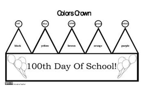 100th Day Of School Crown Template by 100th Day Of School Crowns 100th Day Schools And 100th