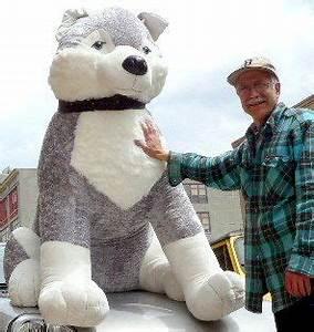 Giant Stuffed Husky Dog 5 Feet Tall Stuffed Soft Enormous ...