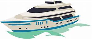 Yacht clipart luxury yacht - Pencil and in color yacht ...