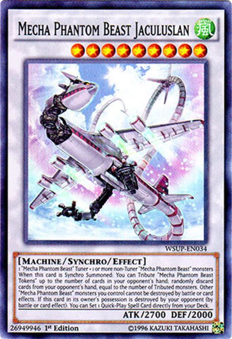 mecha phantom beast deck list mecha phantom beast jaculuslan wsup en034