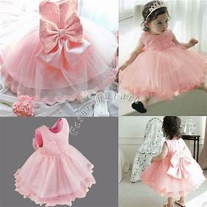 Tuto Tutu Tulle : flower girl toddler kid baby princess pageant wedding party tulle tutu bow dress ebay ~ Dode.kayakingforconservation.com Idées de Décoration