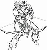 Archer Coloring Pages Faucon Coloriage Dessin Oeil Avengers Imprimer Printable Dessiner Colorier sketch template