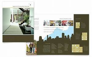 Urban real estate brochure template design for Real estate brochures templates
