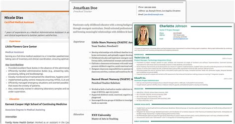resume builder websites  applications  grid