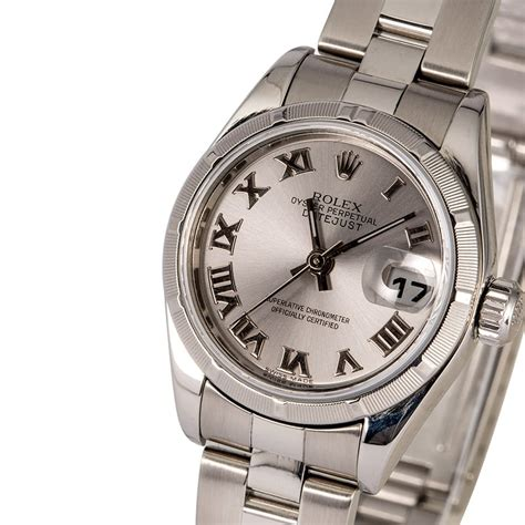 Ladies Rolex Datejust 79190 Silver Roman Dial