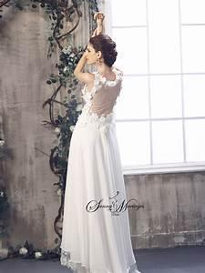 Robe Style Boheme : robe de mariee empire fluide en mousseline style boheme ~ Dallasstarsshop.com Idées de Décoration