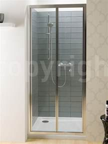 Shower Enclosure Glass Panels by Simpsons Edge 1000mm Bifold Shower Door