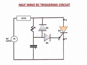 Half Wave Rc Triggering Circuit Explanation
