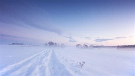 full hd wallpaper snow field cloud road desktop
