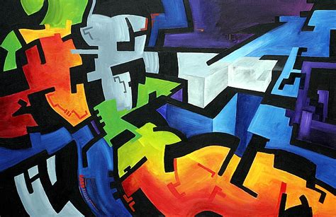 Abstract Male Reclining, Acryl By Ivanjs On Deviantart