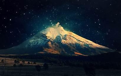 Night Mountain Landscape Mount Sky Winter Fuji