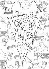 Coloring Pizza Dessert sketch template