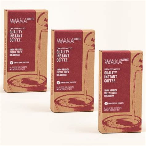 The first step to better tasting instant coffee? Quality Decaffeinated Instant Coffee by Waka Coffee