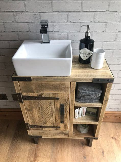 Cheap Bathroom Sink Units by Reclaimed Rustic Industrial Vanity Unit With Sink In 2019