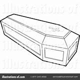 Coffin Clipart Coloring Casket Template Illustration Pages Sketch Lal Perera Royalty Rf sketch template