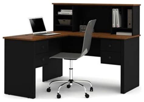 Bestar Somerville L Shaped Desk Black by Bestar Somerville Black Tuscany Brown 54 X 58 L Shaped