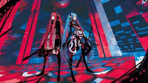 Vocaloid Hatsune Miku redheads Megurine Luka blue hair